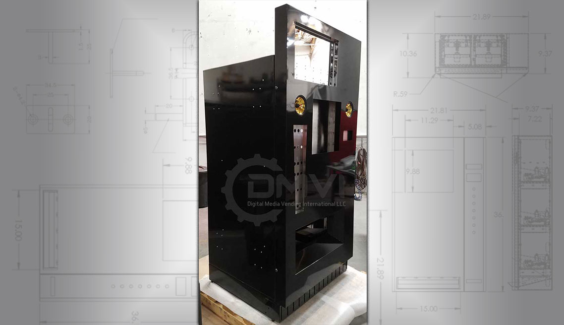 Custom promotional vending machine