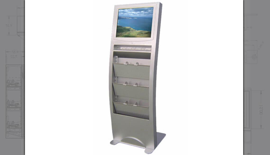 LCD and brochure Kiosk