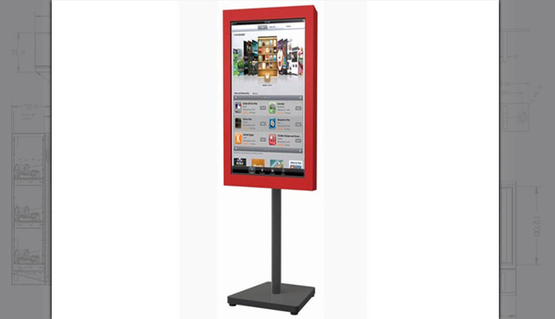 Digital signage LCD Stand