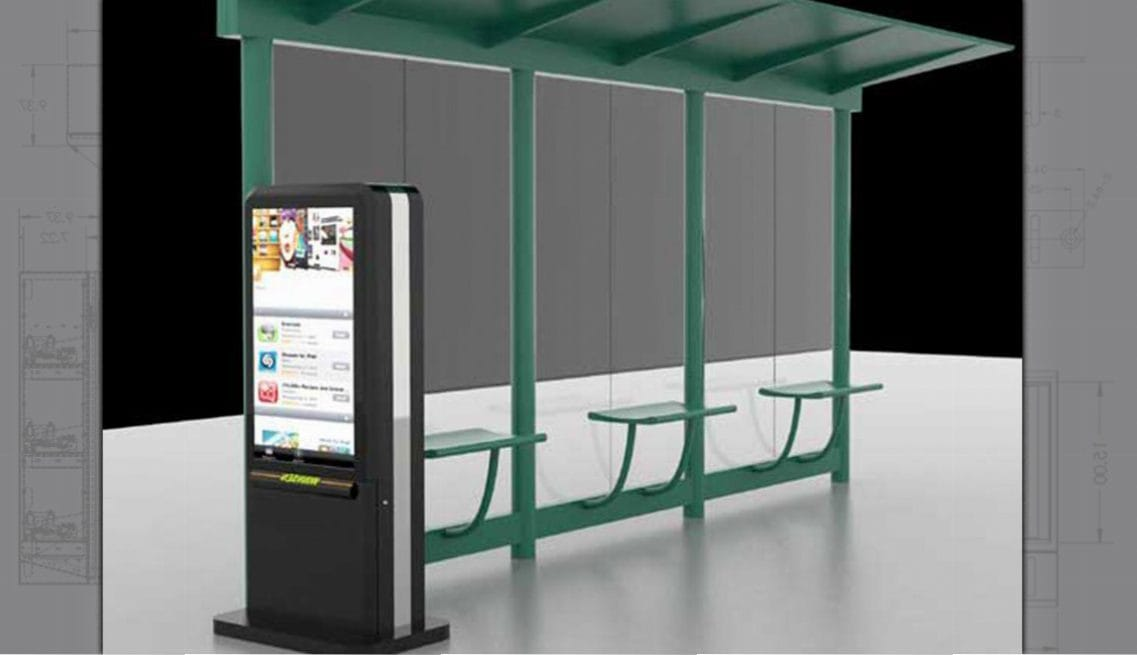 Bus Shelter Digital Signage