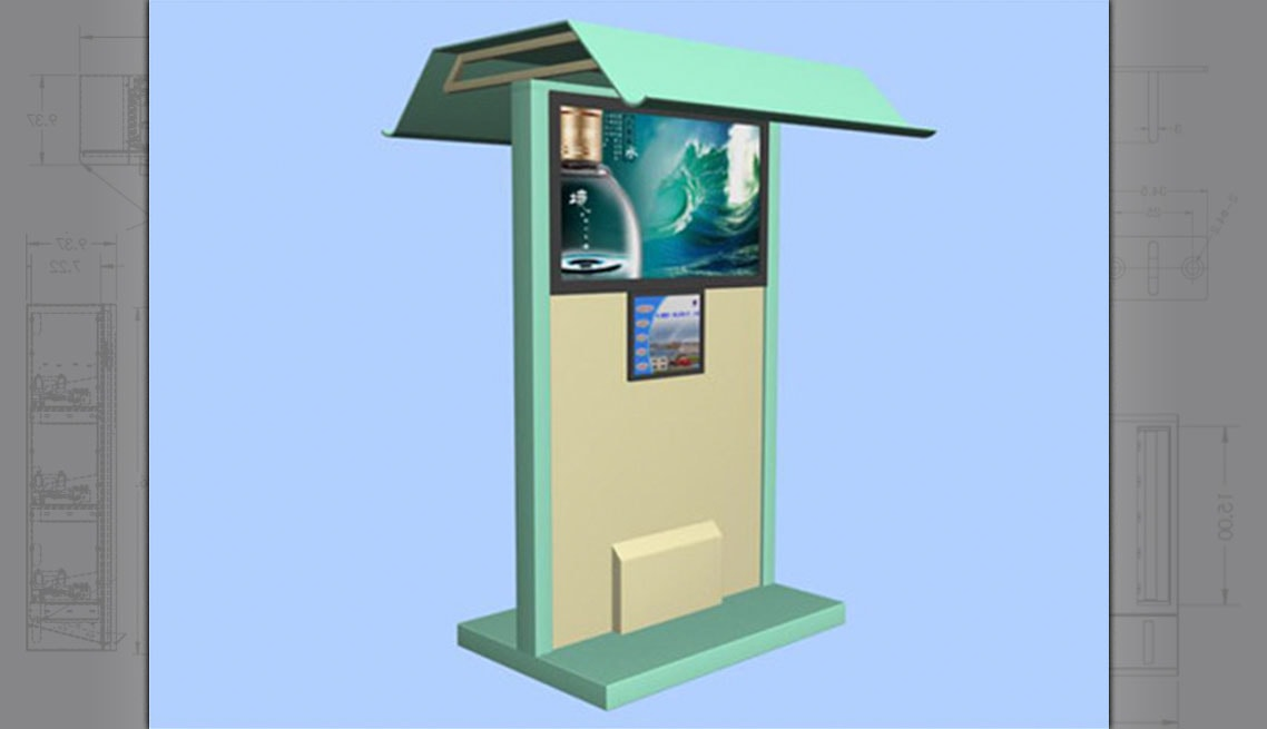 Sheltered Digital Signage Information Kiosk