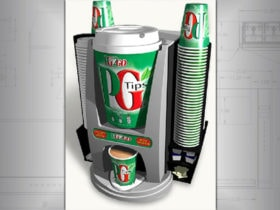 Hot Tea Vending Machine