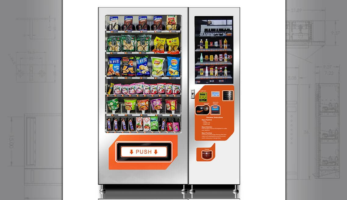 Smart snack vending machine