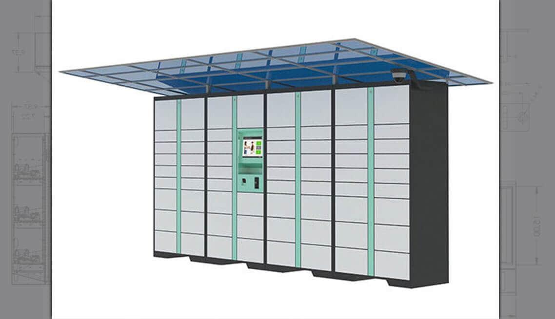 Solar Powered Electronic Lockers