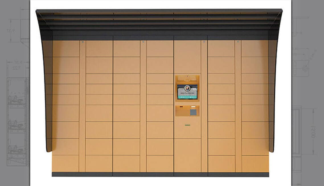 Parcel Delivery Lockers Custom Vending Machine Design