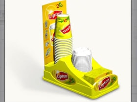 Tea POS Cup dispenser