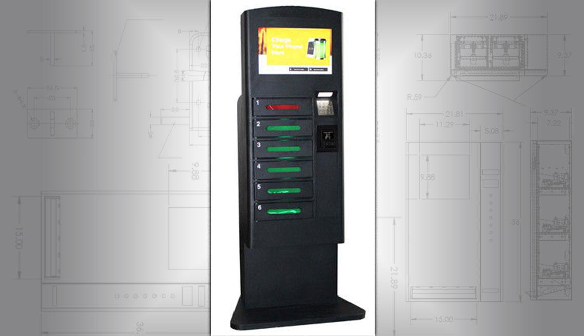 Battery charging lockers