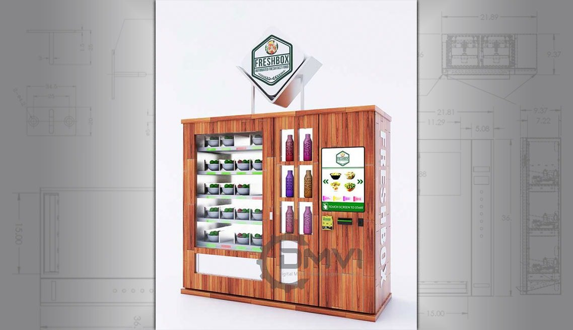 Salad vending machines