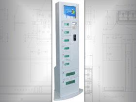 Battery charging locker