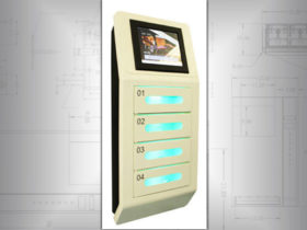 Wall mounted cell phone chargers
