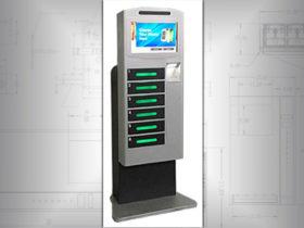 Hotel cell phone charging locker