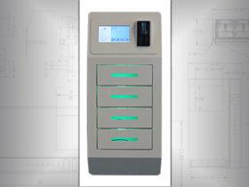 Wall cell phone charging locker