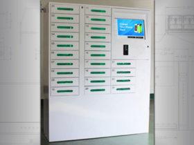 Multi cell phone charging locker
