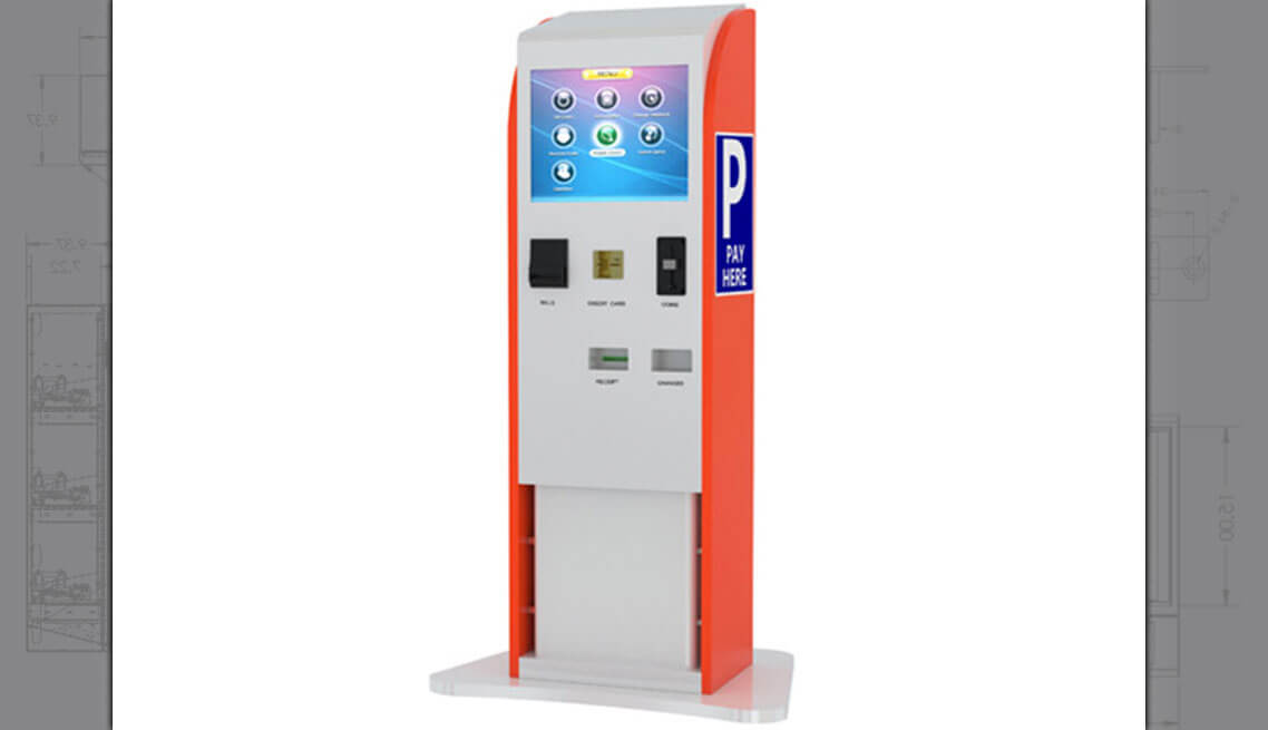 Touchscreen Parking Kiosk