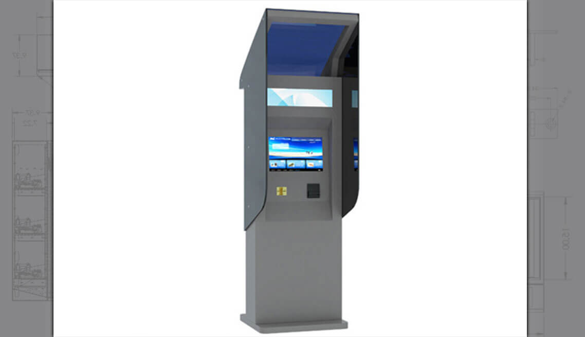 Solar Touchscreen Parking Kiosk