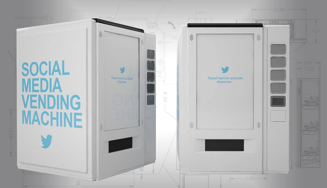 twitter social media vending machine