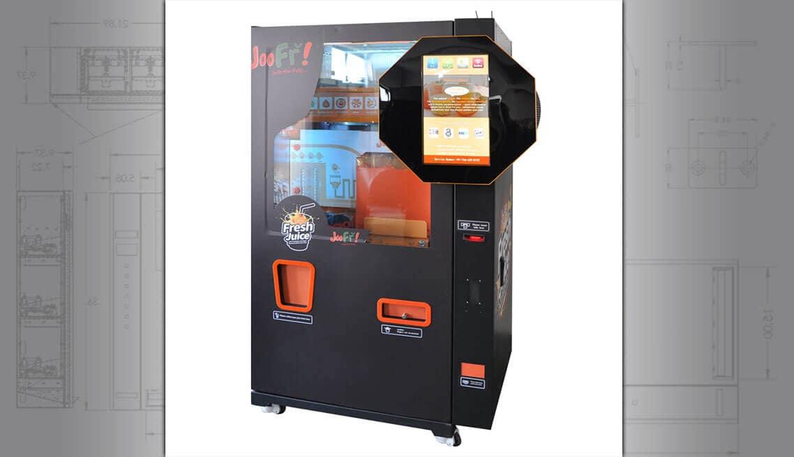 Oranje juice vending machine
