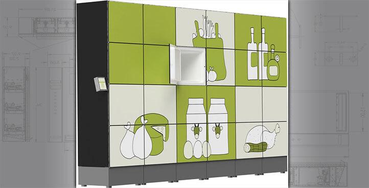 Electronic Refrigerated Grocery Lockers