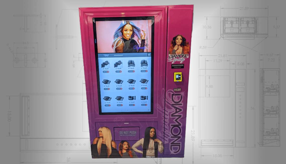 Hair Vending Machine Front