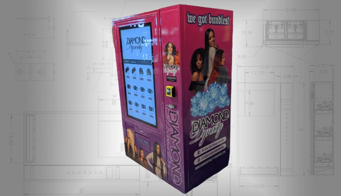 Hair Vending Machine Side