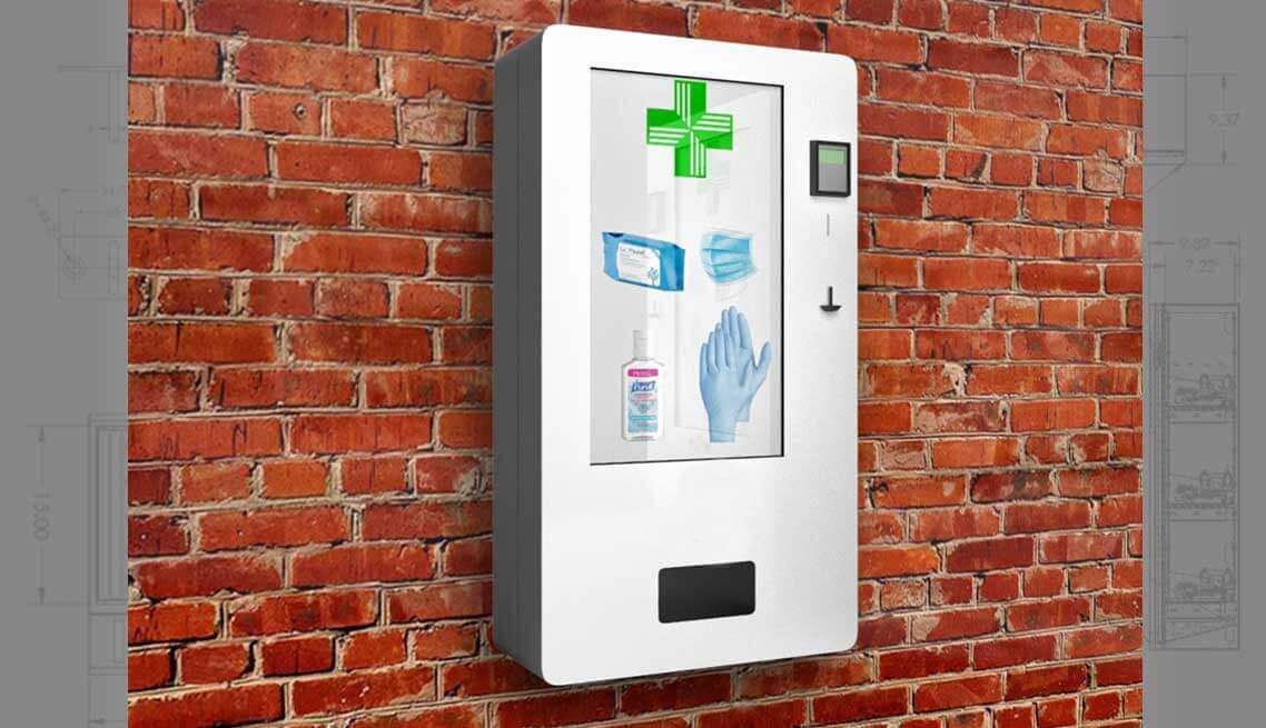 wall hanging vending machine