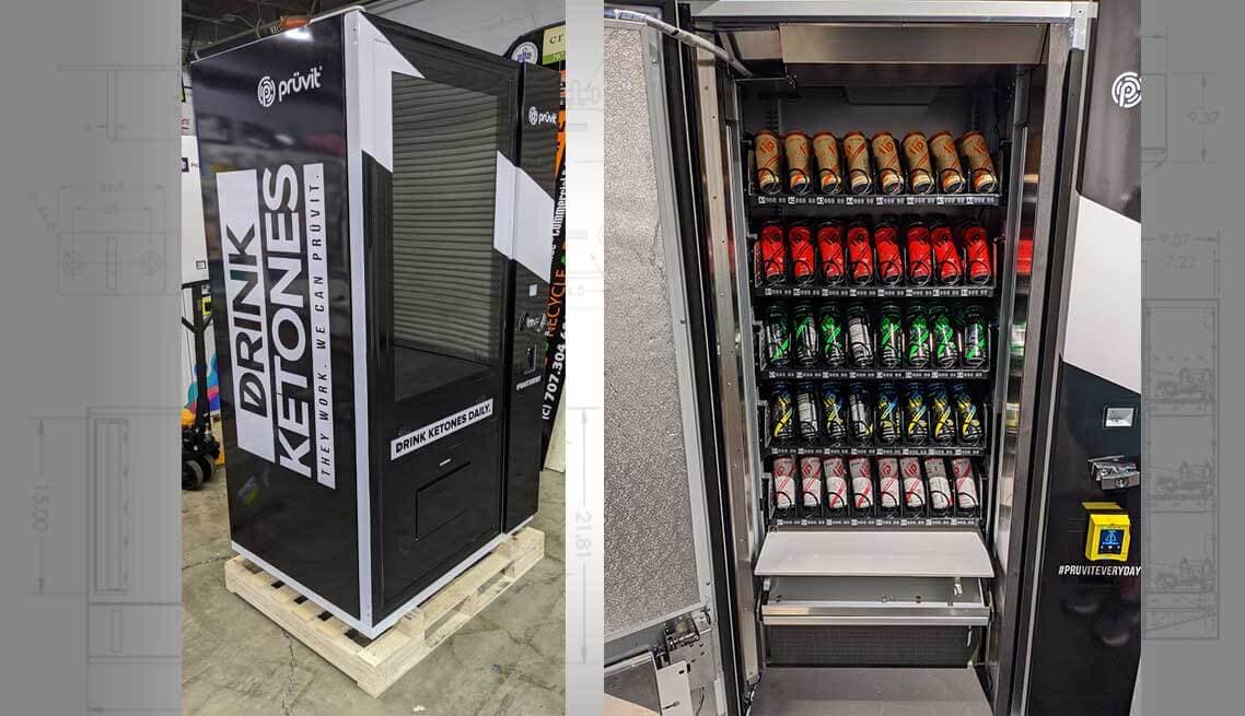 Touchscreen Soda Can Vending Machine